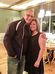 Jennifer Leonzi with Robert Irvine