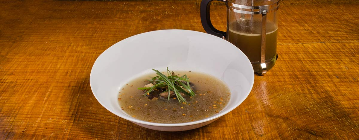 Mushroom Press Soup